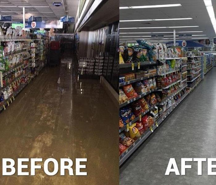 commercial water damage in Woodbury NJ, Before
