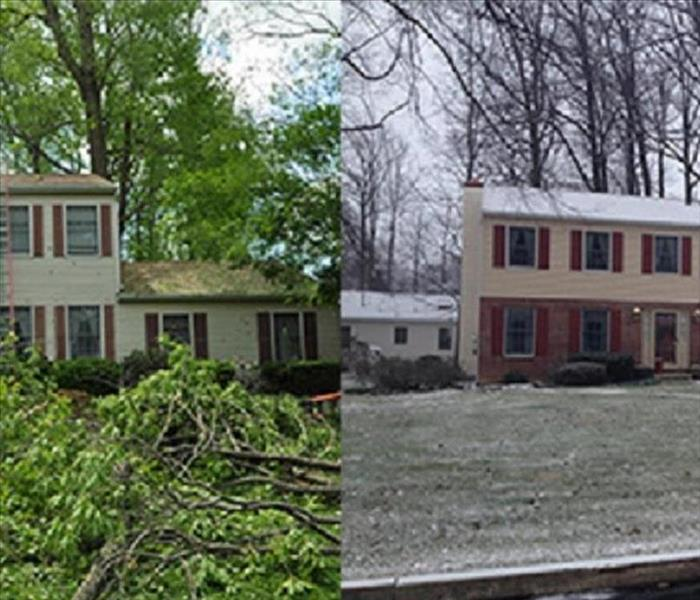 Storm damage in Woodbury NJ, After